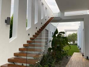 RAILINGS - Oba7 Marbella - natural marble stones, doors and windows