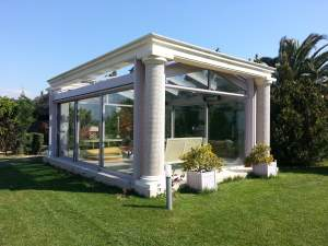 WINTER GARDEN - Oba7 Marbella - natural marble stones, doors and windows